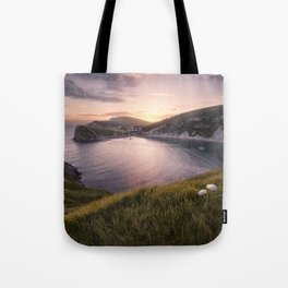 Last Light at Lulworth Tote Bag
