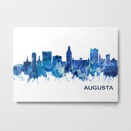 Augusta Georgia Skyline Blue Metal Print