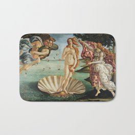 The Birth of Venus by Sandro Botticelli, 1445 Bath Mat