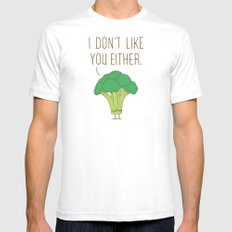 Broccoli don't like you either MEDIUM Mens Fitted Tee White