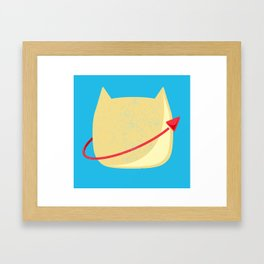 CatStronaut Emblem Framed Art Print