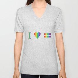 I heart Equality Unisex V-Neck