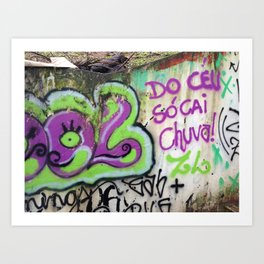 "São Paulo Graffiti ""Do Ceu Só Cai Chuva"" Art Print"