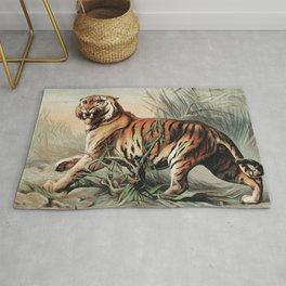 Royal Bengal Tiger, 1880 (Vintage Scientific illustration) Rug