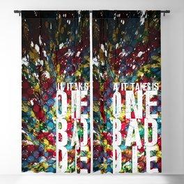 One Bad Die Blackout Curtain