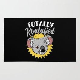 Totally Koalafied Koala Bear Funny Teacher Pun Gift Job Humor Rug