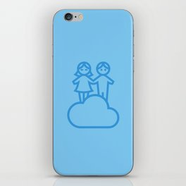 Couple in the clouds iPhone Skin