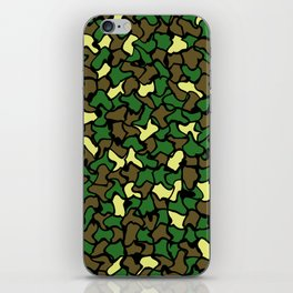 Camouflage Wobble Tile Pattern iPhone Skin