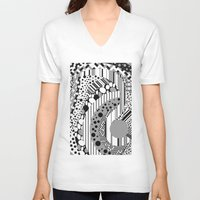 psychedelic V-neck T-shirts featuring Psychedelic by GPM Arts