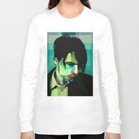 wes anderson Long Sleeve T-shirts featuring Brett Anderson by zomplag