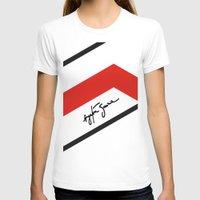 senna T-shirts featuring Ayrton Senna Mclaren Honda Formula 1 by Krakenspirit