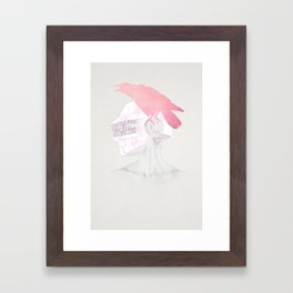 Never Over Framed Art Print