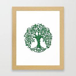 Tree of life green Framed Art Print
