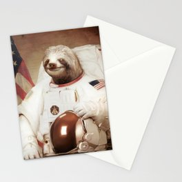 Sloth Astronaut Stationery Cards