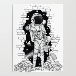 Astronaut on the loose Poster
