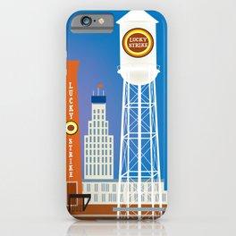 Durham, North Carolina - Skyline Illustration by Loose Petals iPhone Case