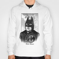 bat man Hoodies featuring BAT MAN by DIVIDUS