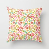 jungle Throw Pillows featuring Jungle by Kristin Nohe Juchs