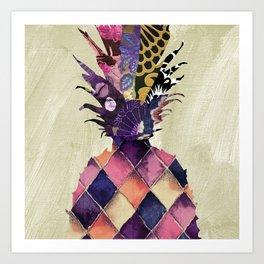 Pineapple Brocade I Art Print