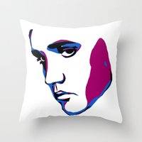 elvis Throw Pillows featuring ELVIS by HAUS OF DEVON