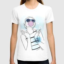 Pink and Blue Bubblegum Girl T-shirt