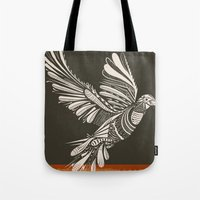 peace Tote Bags featuring PEACE by Mathis Rekowski