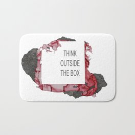Think Outside The Box - Red Bath Mat