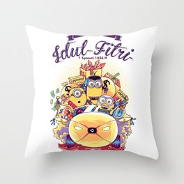 Idul Fitri with Stuart, Kevin and Bob Throw Pillow