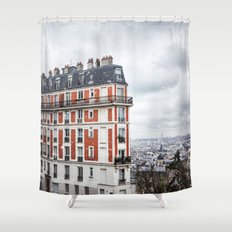 Paris Postcards. Shower Curtain