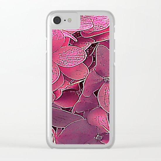 Magenta viburnum Clear iPhone Case