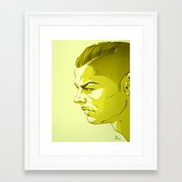 ronaldo Framed Art Prints featuring Cristiano Ronaldo by nachodraws