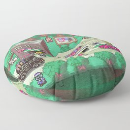 Earthbound town Floor Pillow