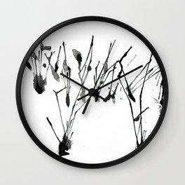 zebra ink splatter Wall Clock