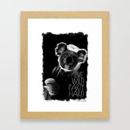 Koala test Framed Art Print