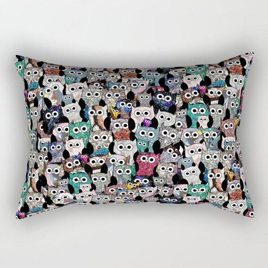 Gemstone Owls Rectangular Pillow