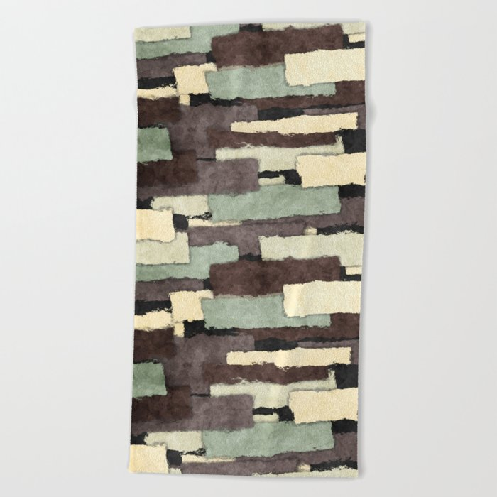 Textured Layers Abstract Beach Towel