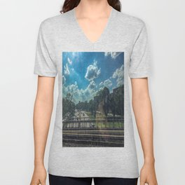 View From A Train Unisex V-Neck