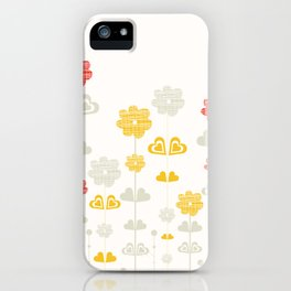 I heart flowers iPhone Case