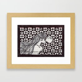You Think You're Chocolate. Framed Art Print