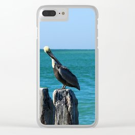 Two Old Guys On A Jetty Clear iPhone Case