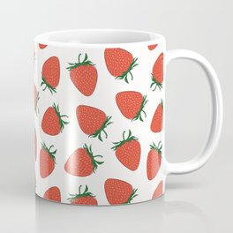 Strawberry Red Pattern Coffee Mug