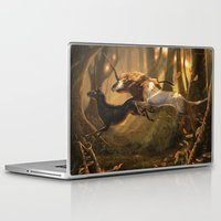 unicorns Laptop & iPad Skins featuring Unicorns by ErikaStudio