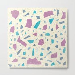 Natural Stone Texture - Granite Marble Speckles - Trendy Terrazzo Pattern Metal Print