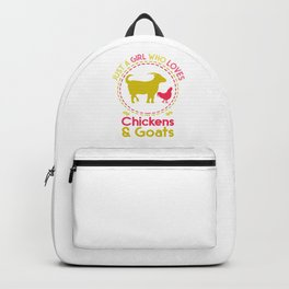 Farm Animals Chicken And Goat Backpack