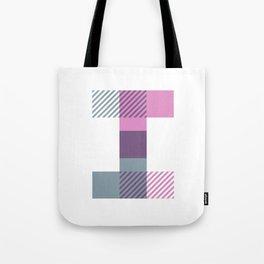 Rotation Alphabet 'I' On White Tote Bag