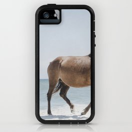 Horses Walking On Beach During Day iPhone Case