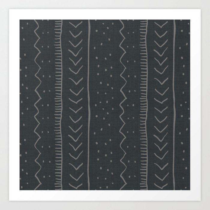 Moroccan Stripe in Charcoal