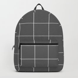 Graph Paper (White & Grey Pattern) Backpack