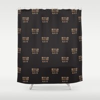 business Shower Curtains featuring BUSINESS by In Tint Design