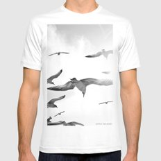 Nothingness White MEDIUM Mens Fitted Tee